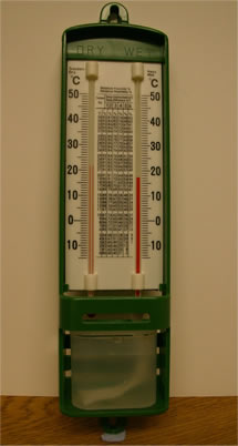 a basic wet and dry thermometer
