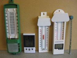 calibrating a selection of thermometers