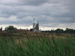 a windmill in Norfolk